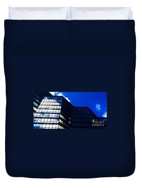 Duvet Cover featuring the photograph Ripple - Blue by Jamie Lynn