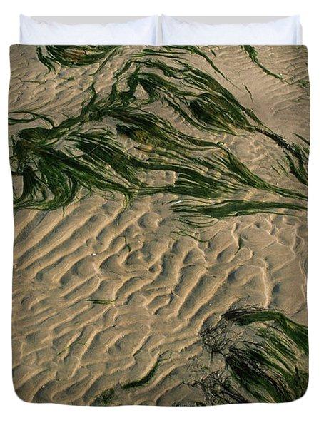 Ripple Pattern On Sand Dunes Duvet Cover