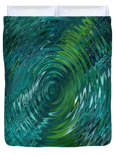 Ripple Sea Glass  Duvet Cover by Christine Fournier