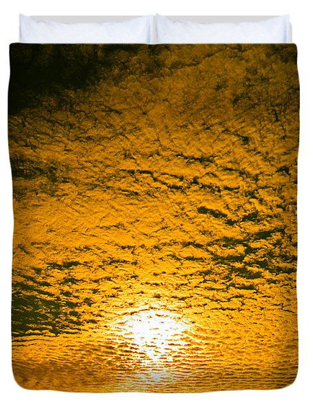 Ripples In The Sky Duvet Cover by Nick Kirby