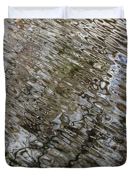 Ripples In The Swamp Duvet Cover by Carol Groenen