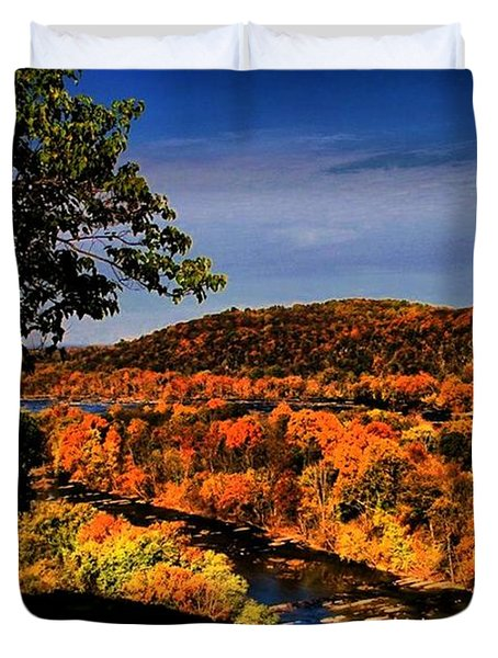 Duvet Cover featuring the photograph Rise And Look Around You by Robert McCubbin