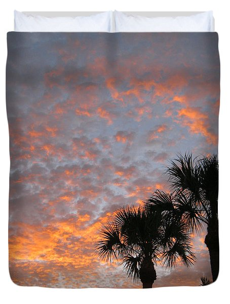 Rise And Shine. Florida. Morning Sky View Duvet Cover