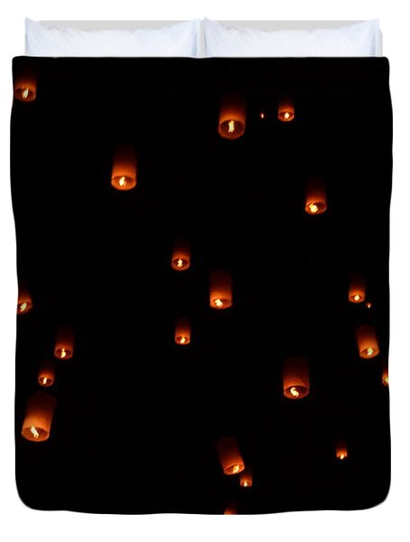 Rise Festival Lanterns 2014 Horizontal Sky Only Number One Duvet Cover