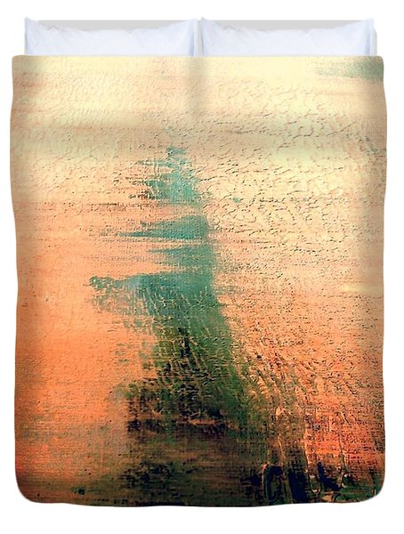 Duvet Cover featuring the painting Rise by Jacqueline McReynolds