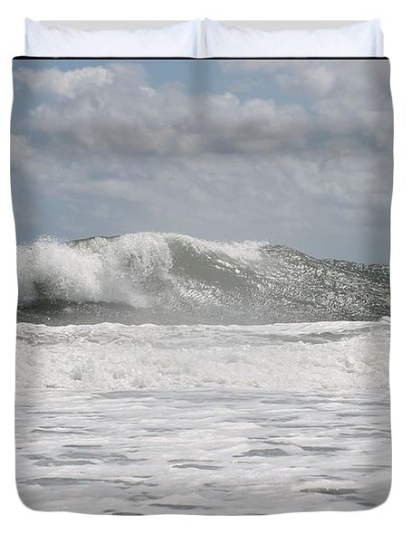 Duvet Cover featuring the photograph Rise by Robert Banach