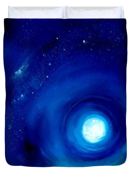 Rising Desert Moon Duvet Cover