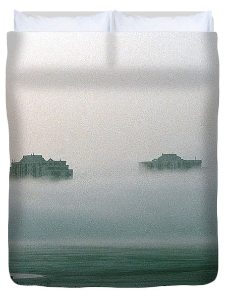 Rising From The Mist Duvet Cover by David Porteus