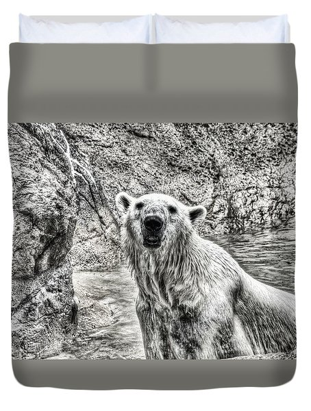 Duvet Cover featuring the photograph Rising From The Water by Dennis Baswell