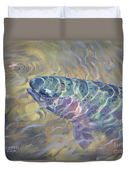 Rainbow Rising Duvet Cover by Rob Corsetti