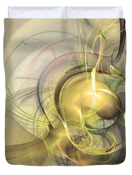 Rising - Abstract Art Duvet Cover