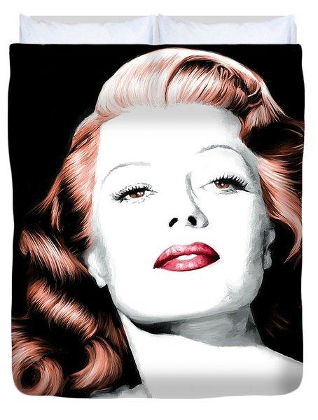 Rita Hayworth Large Size Portrait Duvet Cover