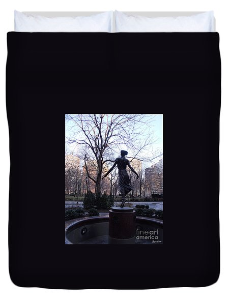Rittenhouse Square At Dusk Duvet Cover