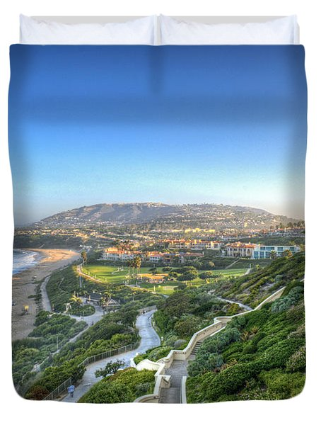 Ritz-carlton Laguna Niguel Ocean View Duvet Cover by David Zanzinger