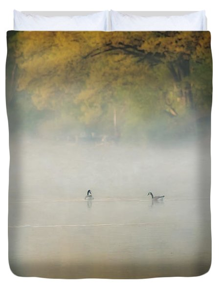 River At Sunrise Duvet Cover by Everet Regal