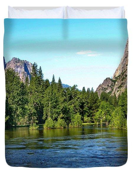 Yosemite National Park Duvet Cover by Menachem Ganon