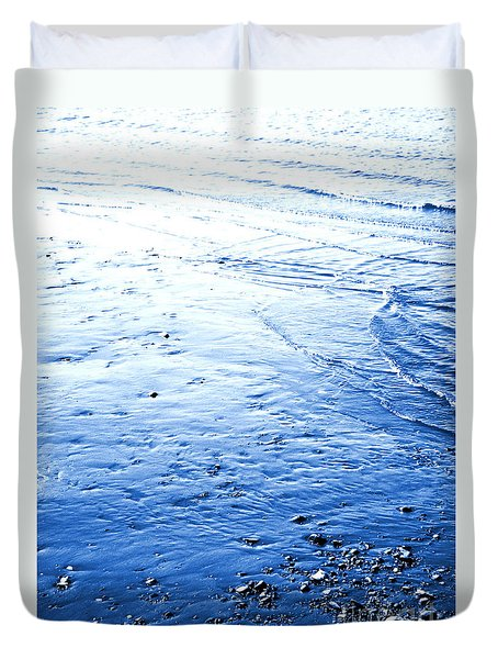Duvet Cover featuring the photograph River Blue by Robyn King