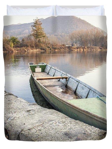 River Boat Duvet Cover