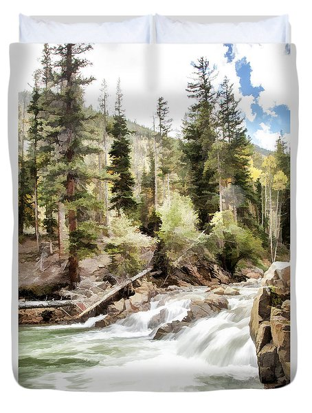 River Boulders Duvet Cover