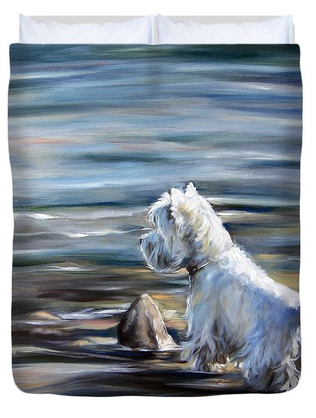 River Boy Duvet Cover by Mary Sparrow