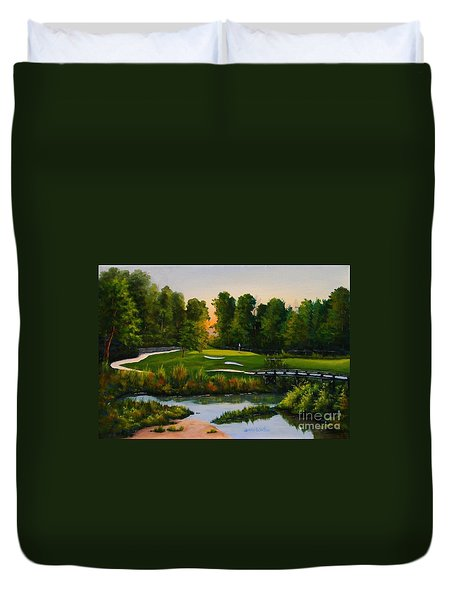 River Course #16 Duvet Cover