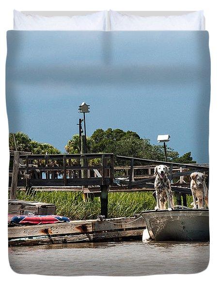River Dogs Duvet Cover