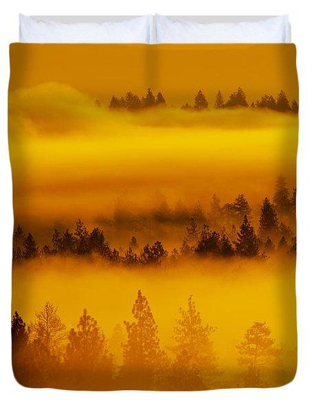 River Fog Rising Duvet Cover