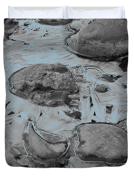 River Ice Blue Duvet Cover by Jeremy Rhoades