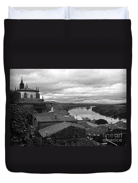 River Mino And Portugal From Tui Bw Duvet Cover