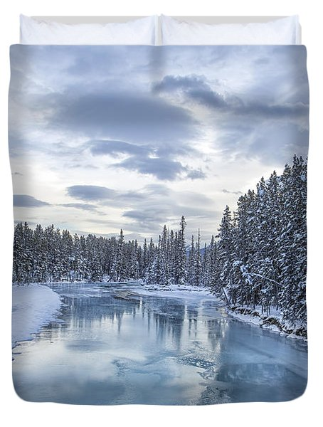 River Of Ice Duvet Cover