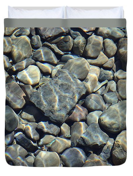 River Rocks One Duvet Cover by Chris Thomas