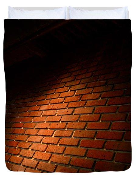 River Walk Brick Wall Duvet Cover