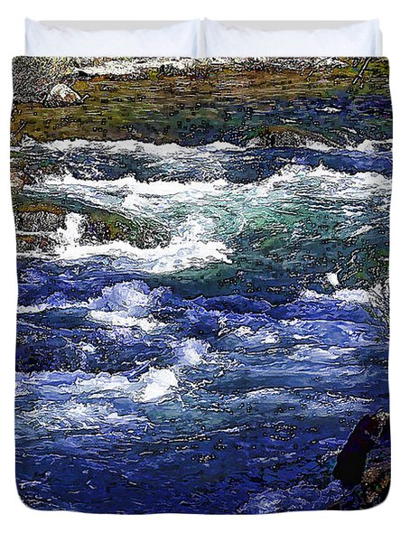 River Wild-d Duvet Cover