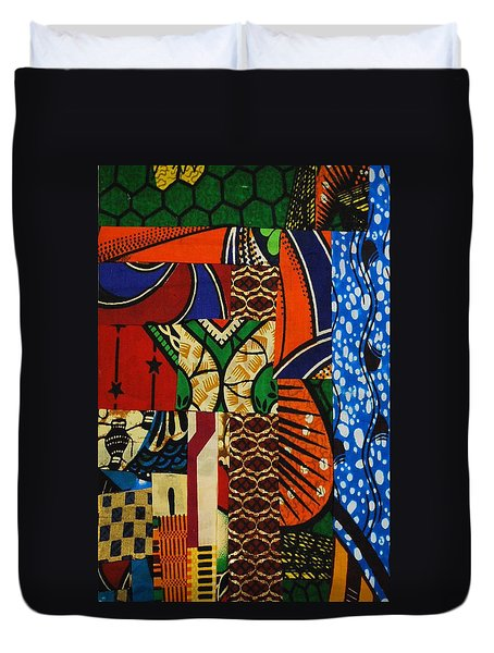 Duvet Cover featuring the tapestry - textile Riverbank by Apanaki Temitayo M