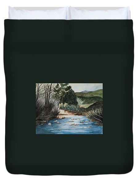 Riverscape Duvet Cover by Lee Beuther