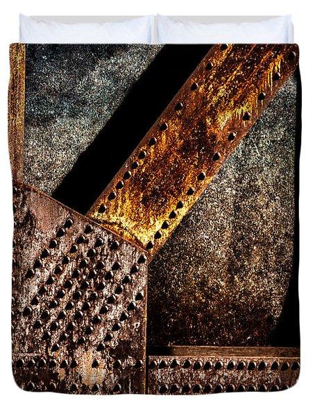 Rivets  Duvet Cover by Bob Orsillo