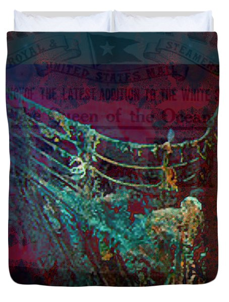 Rms Titanic Sinks  Duvet Cover by Elizabeth McTaggart