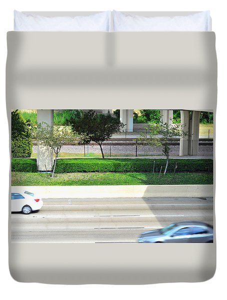 Road And Rail Duvet Cover