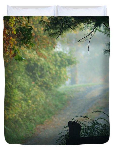 Road Goes On Duvet Cover