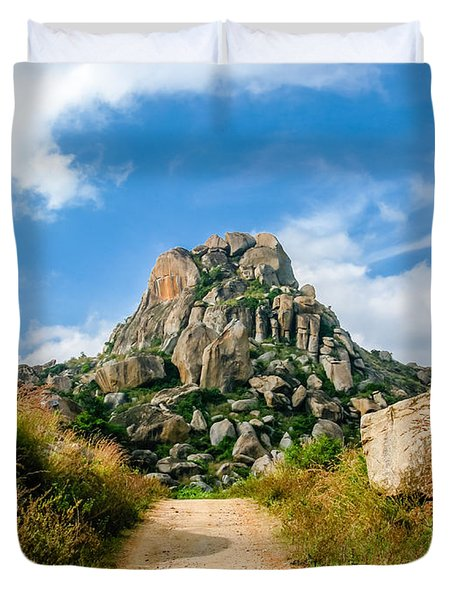 Road Into The Hills Duvet Cover