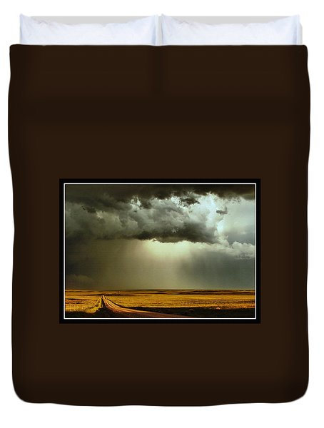 Road Into The Storm Duvet Cover