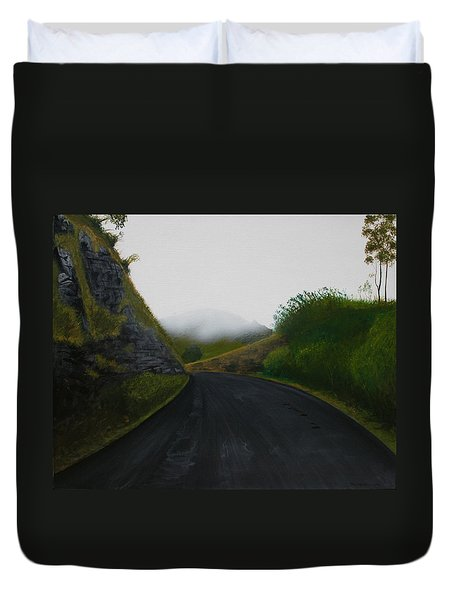 Road Near Gresford Nsw Duvet Cover by Tim Mullaney