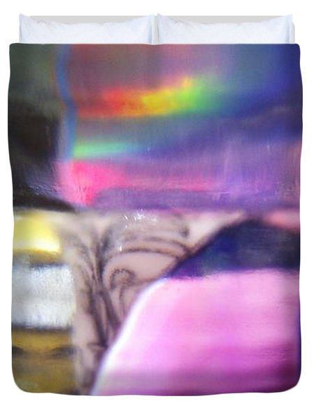 Road To Another Dimension Duvet Cover by Martin Howard