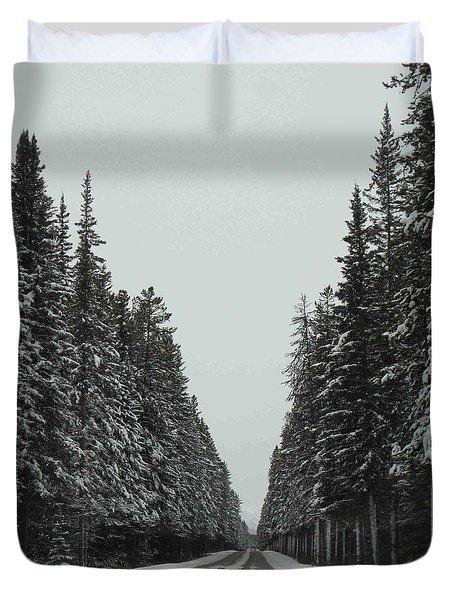 Road To Banff Duvet Cover