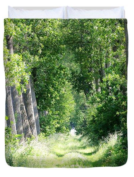 Road To Bruges Duvet Cover by Carol Groenen
