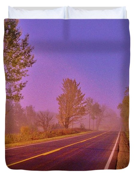 Duvet Cover featuring the photograph Road To... by Daniel Thompson