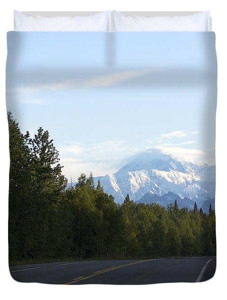 Road To Denali  Duvet Cover