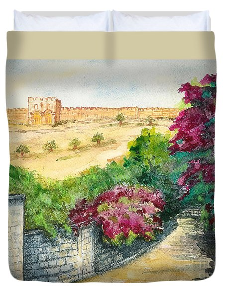 Road To Eastern Gate Duvet Cover