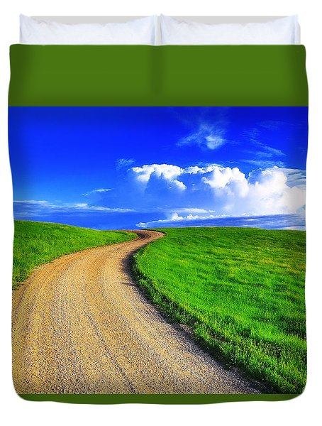 Road To Heaven Duvet Cover