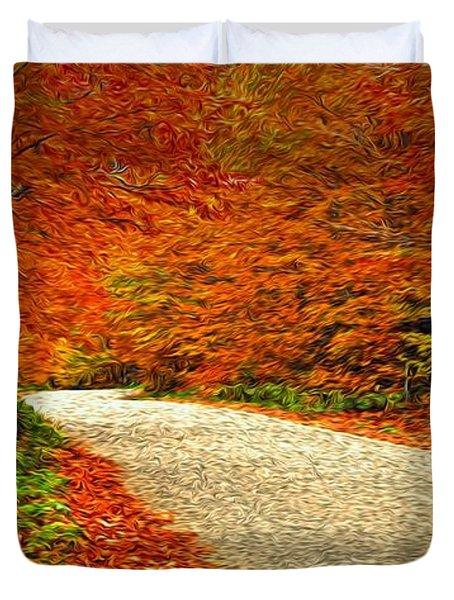 Road To Nowhere Duvet Cover by Bill Howard